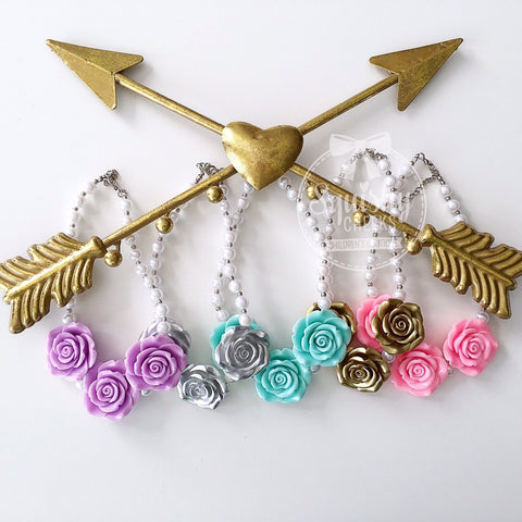 BLOWOUT Rose Necklace Grab Bag