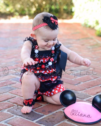 CLEARANCE Patterned Ruffle Rompers