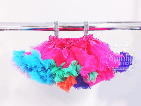BLOWOUT: Rainbow Fluffy Petti Skirt