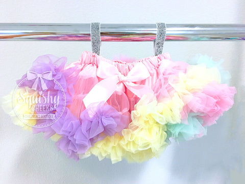 Pastel Rainbow Fluffy Skirt