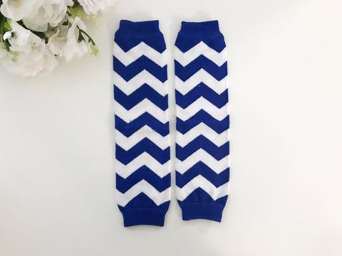 CLEARANCE Blue Chevron Leg Warmers