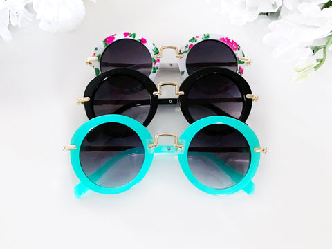 Girl's Round Sunglasses
