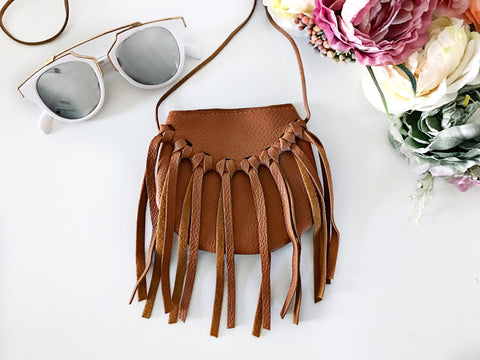 Brown Fringe Purse