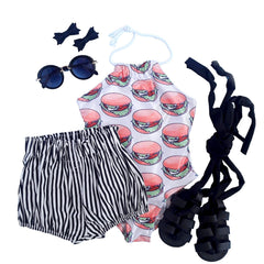 Hamburger Halter Swimsuit