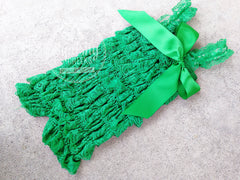 BLOWOUT Green Lace Romper