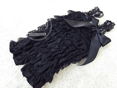 BLOWOUT Black Lace Romper