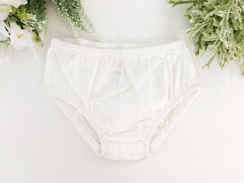 BLOWOUT White Cotton Bloomers