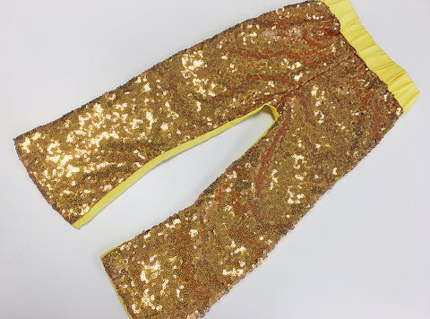 CLEARANCE Bold Yellow Sequin Pants