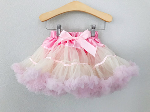BLOWOUT: Pink Lemonade Fluffy Petti Skirt