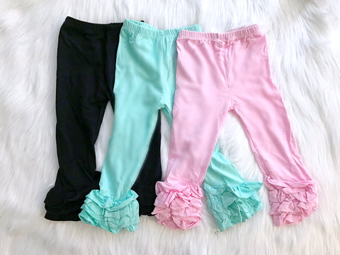 CLEARANCE Cotton Ruffle Pants