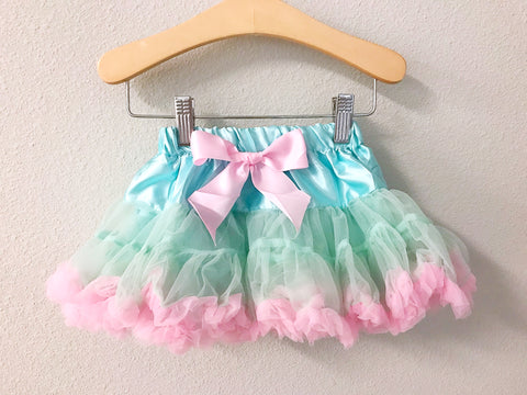 BLOWOUT: Aqua and Pink Petti Skirt
