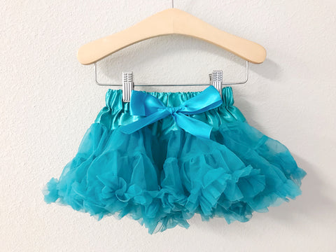 CLEARANCE Teal Petti Skirt