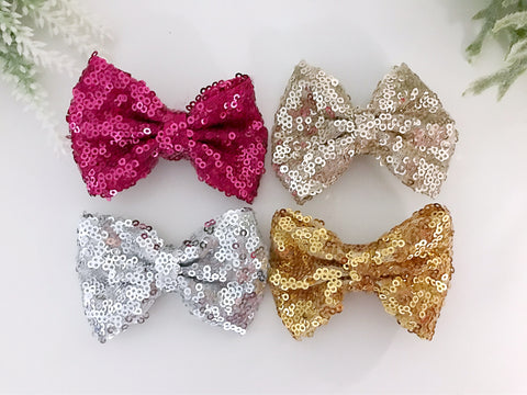 BLOWOUT Mini Sequin Bow Clips