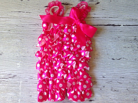 BLOWOUT Pink Minnie Romper