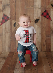 Boy's Personalized Lumberjack Birthday Outfit