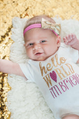 Girl's Hello World Personalized Outfit