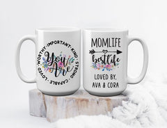 Personalized Mom Life, Best Life Mother's Day Mom Mug