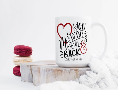 Personalized Love you to the Moon and Back Mug