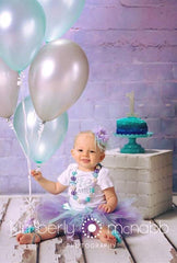 Lavender and Aqua Tutu Birthday Outfit