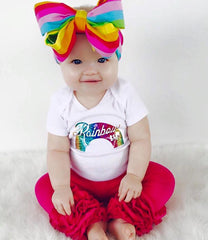 Girl's Rainbow Baby Top