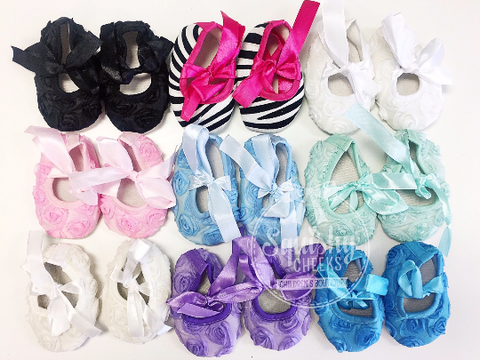 MYSTERY Color Rosette Baby Shoes