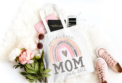 Mom Rainbow Mother's Day Tote Bag