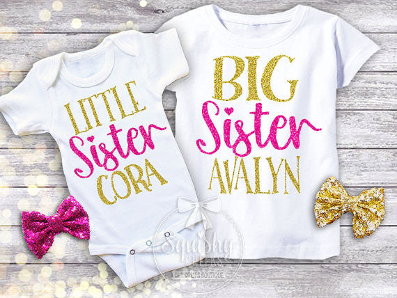 Little Sister Big Sister Shirt Pack Squishy Cheeks