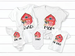 Farm Animals Birthday Family Matching Tops
