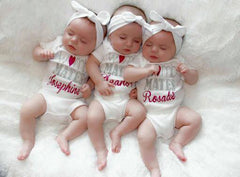 Personalized Twin Womb Mates Set
