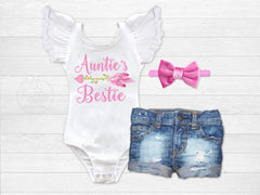 Girl's Auntie's Bestie Outfit
