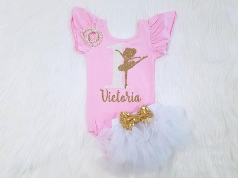 Girl's Ballerina Birthday Outfit