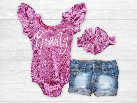 Girl's Crushed Velvet Beauty Outfit