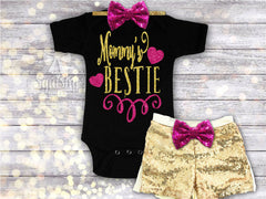 Girl's Mommy's Bestie Outfit