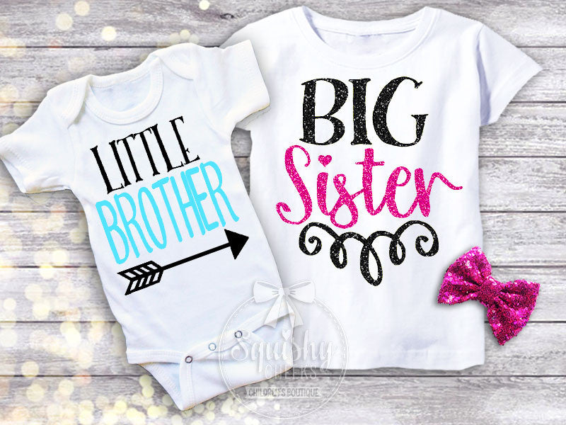 86519b4c Little Brother Big Sister Shirt Pack – Squishy Cheeks