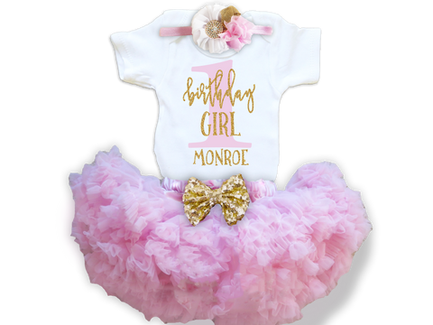 30a895f9f Girl's Personalized Birthday Girl Outfit