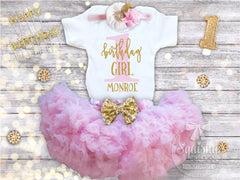 Pink and Gold Birthday Girl Skirt Outfit - 1st-8th Birthdays