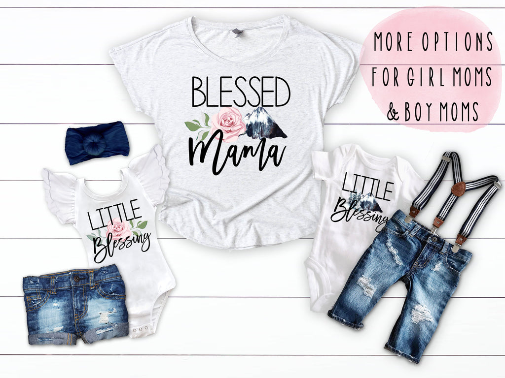 3c5566df Blessed Mama Mother's Day Matching Shirts – Squishy Cheeks