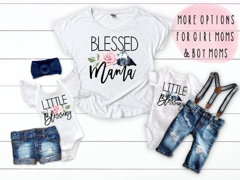 Blessed Mama Mother's Day Matching Shirts
