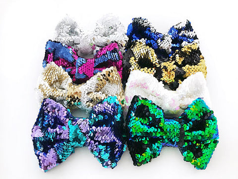 Girl's Sequin Reversible Bow