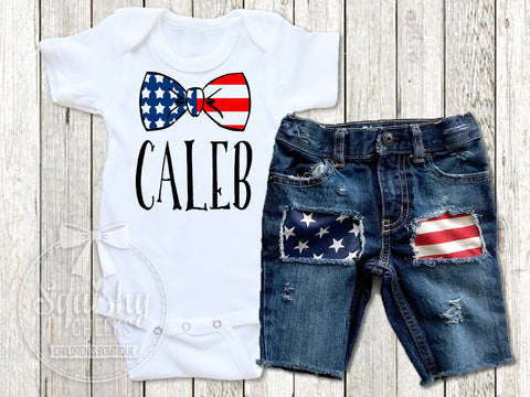 Personalized Patriotic Boy Outfit