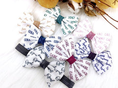 Girl's Personalized Name Bow Headband