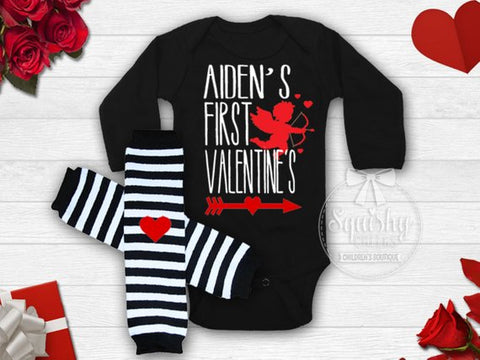 Boy's Personalized First Valentine's Day Outfit