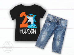 Boy's Personalized Shark Birthday Outfit