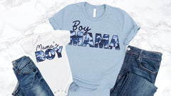 Camo Boy Mom Mama's Boy Matching Tops