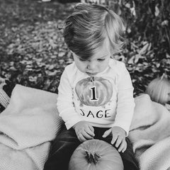 Boy's Personalized Pumpkin Birthday Outfit
