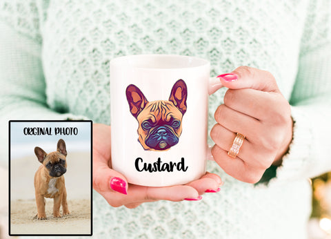 Personalized Dog Pet Cartoon Photo Mug