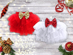 Girls Christmas Bloomers Red or White