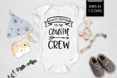 New To The Cousin Crew Newborn Baby Onesie®