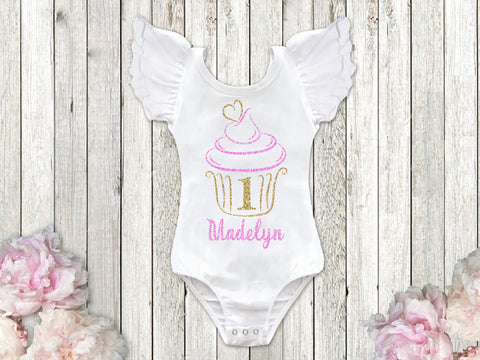 Cupcake 1st Birthday Top