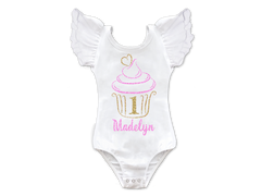 Girl's Personalized Cupcake Birthday Top